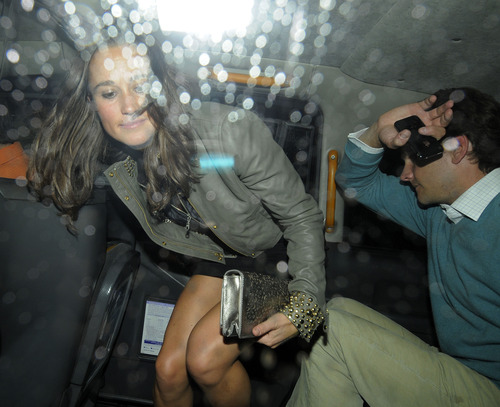 Pippa Middleton outside a nightclub in London (5)