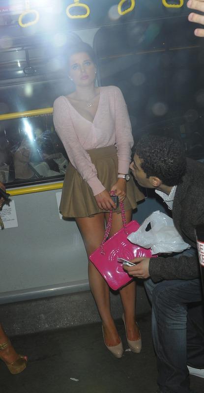 Helen Flanagan - Upskirt Shots Bus 02