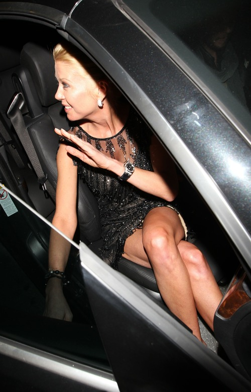 Tara Reid @ Katsuya in Hollywood upskirt