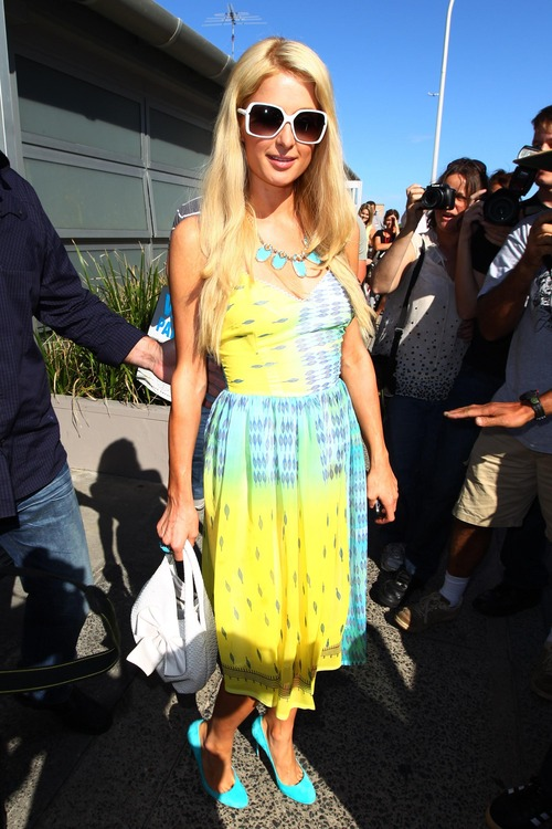 Paris Hilton out to lunch in Sydney