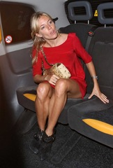 Sienna Miller in red dress leaving Wolseley Restaurant 09