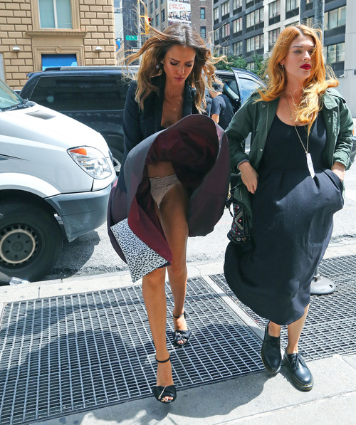 Jessica Alba - leaves the Trump Soho hotel in NYC