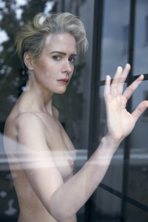 Sarah Paulson - Topless in W Magazine August 2016