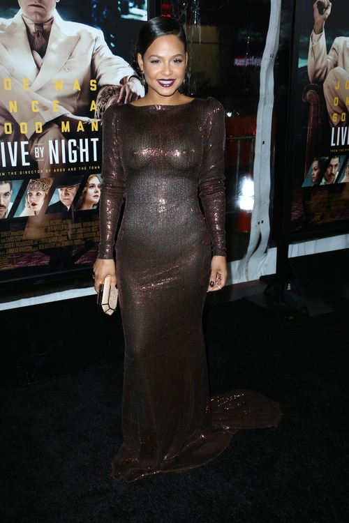 Christina Milian See Through at Live By Night Premiere