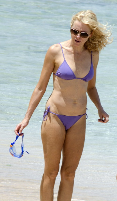 Naomi Watts - wearing a bikini at a beach in Barbados 04