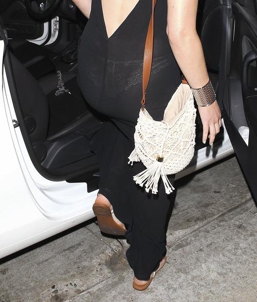 Jennifer Lawrence - see-thru dress at dinner c 04