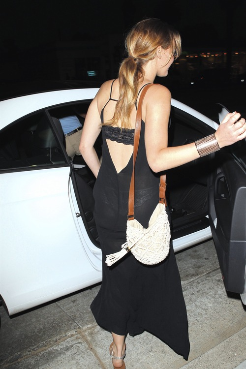 Jennifer Lawrence - see-thru dress at dinner c 01