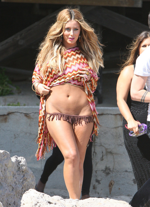 Aubrey O'Day -bikini at Icon mag shoot
