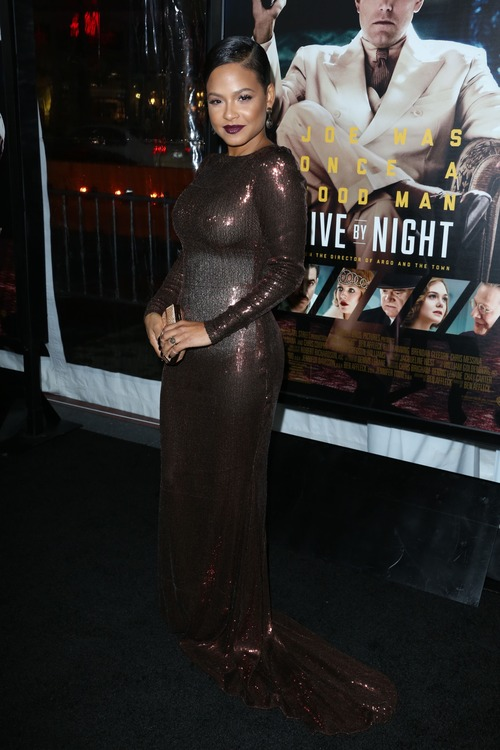 Christina Milian See Through at Live By Night Premiere (3)