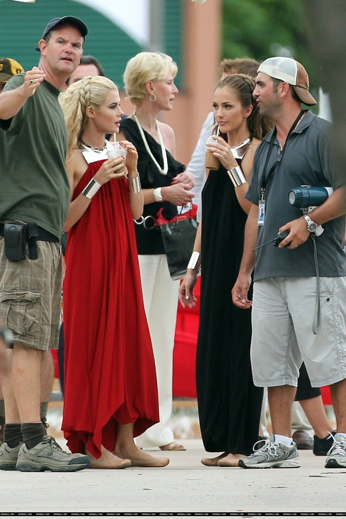 Minka Kelly On Set of Charlies Angels (8)