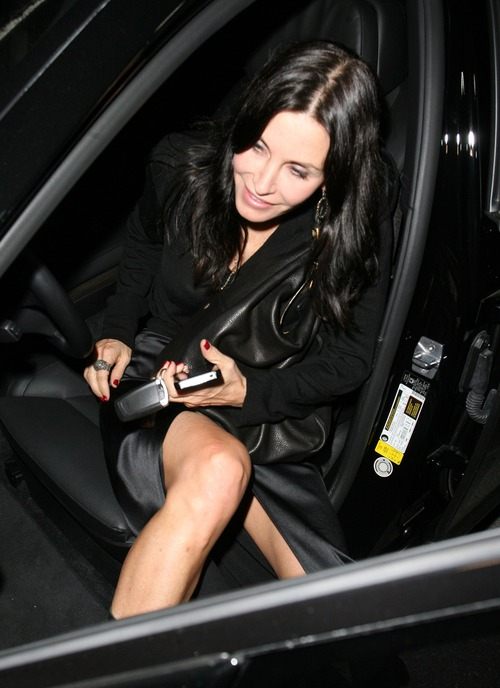 Courteney Cox Upskirt Leaving Spago (3)