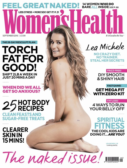 Lea Michele -  Women's Health UK September 2016 (1)