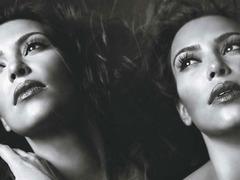Kim Kardashian - painted silver - W mag 4