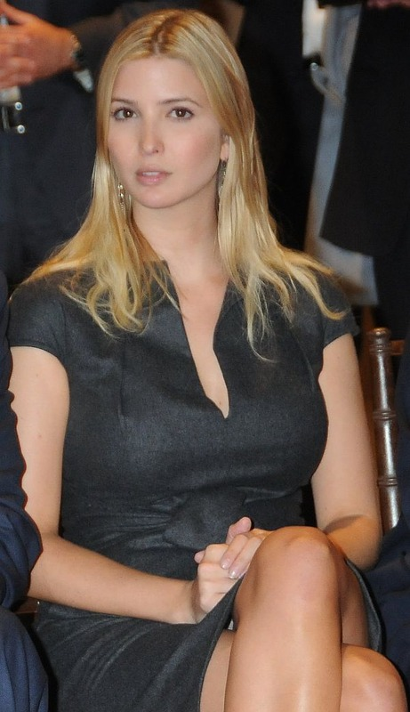 Ivanka Trump in White Pantie Upskirt