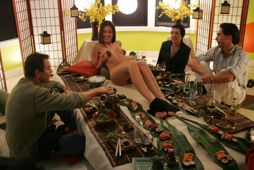 Adrianne Curry servs sushi naked -  hq twitter pic
