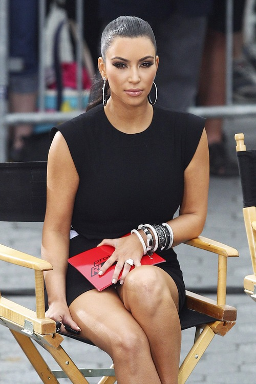 Kim Kardashian – Upskirt Project Runway in New York