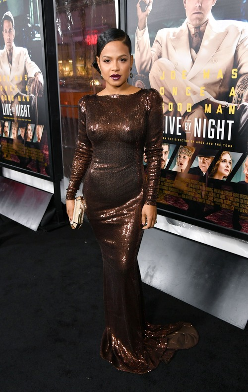 Christina Milian See Through at Live By Night Premiere (1)