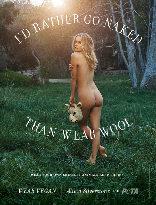 Alicia Silverstone - Bare ass for PETA Photoshoot