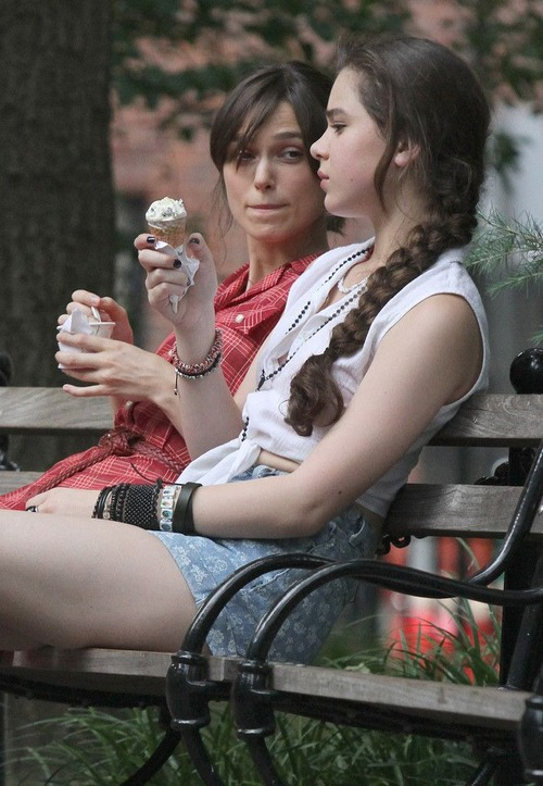Keira Knightley - filming of Can A Song Save Your Life 09
