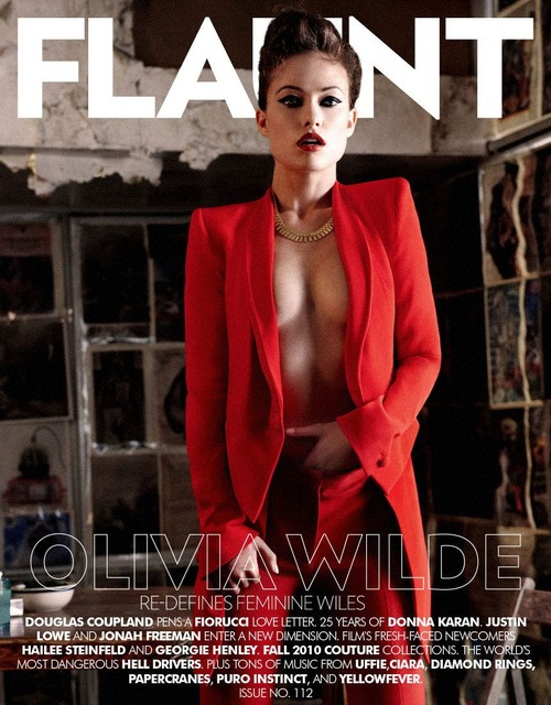 Olivia Wilde - sexy in Flaunt magazine issue 112