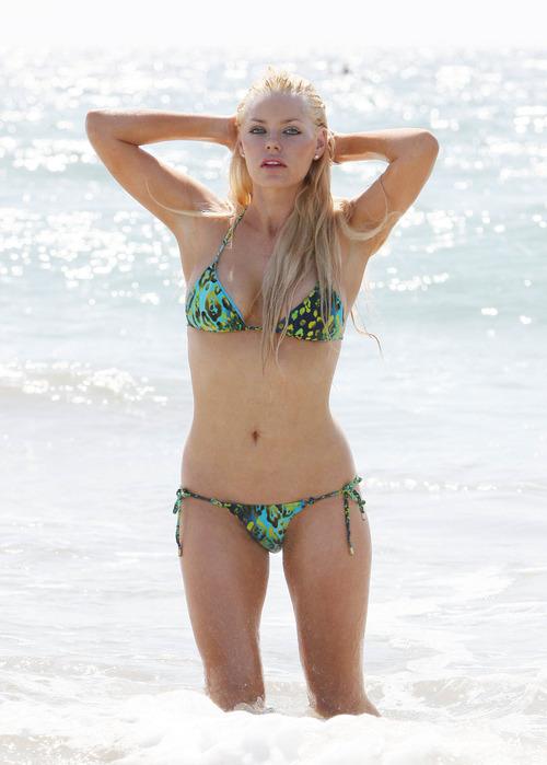 Sophie Monk - topless bikini candids