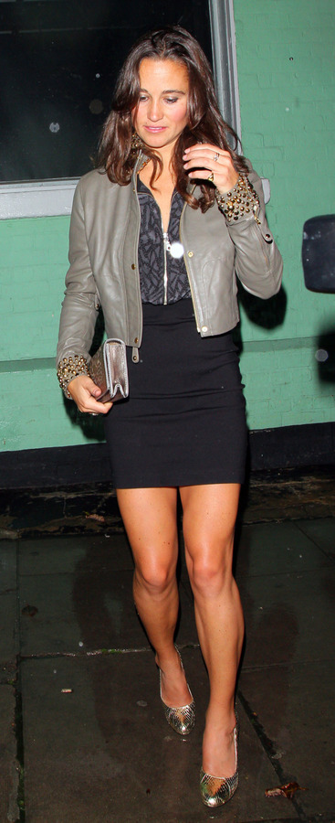 Pippa Middleton outside a nightclub in London