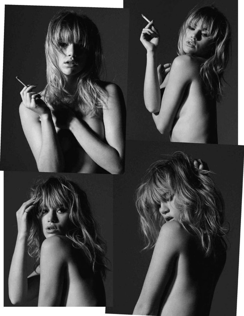 Suki Waterhouse Topless - Vogue Espana (8)