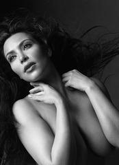Kim Kardashian - painted silver - W mag 2