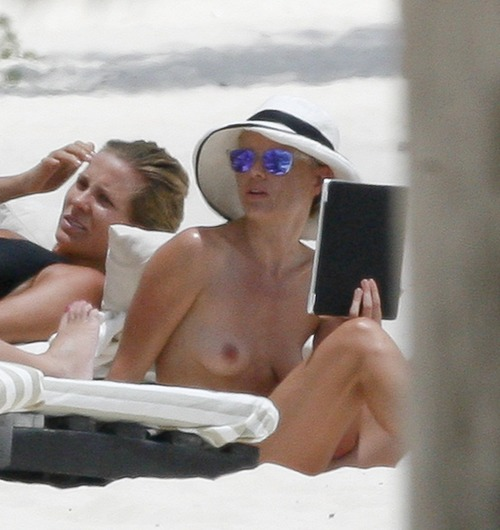 Kate Bosworth Topless on the Beach in Mexico
