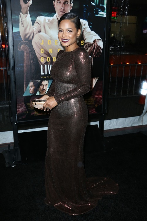 Christina Milian See Through at Live By Night Premiere (2)