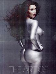 Kim Kardashian - NUDE - W Magazine painted silver 05