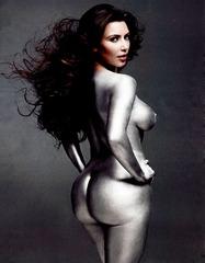 Kim Kardashian - painted silver - W mag hq2