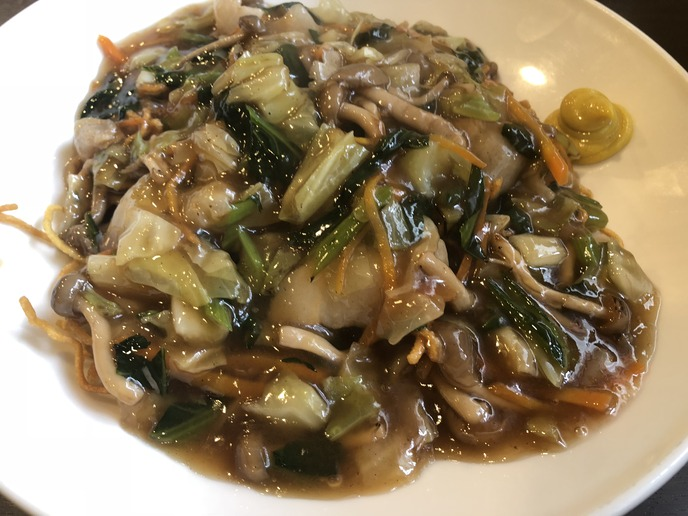 【満丸】あんかけ焼きそば(揚げ麺)
