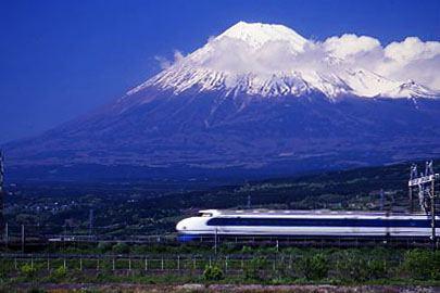 0系と富士山