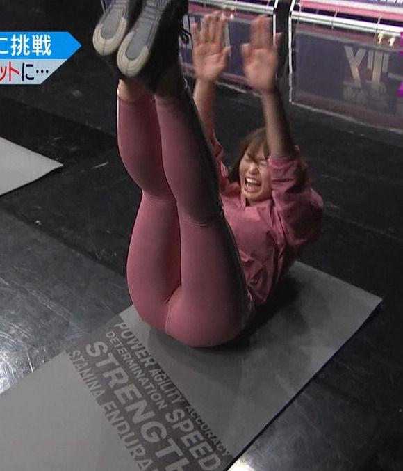 神スイング稲村亜美がピチピチズボンで美尻トレーニングしてる番組がエロい件