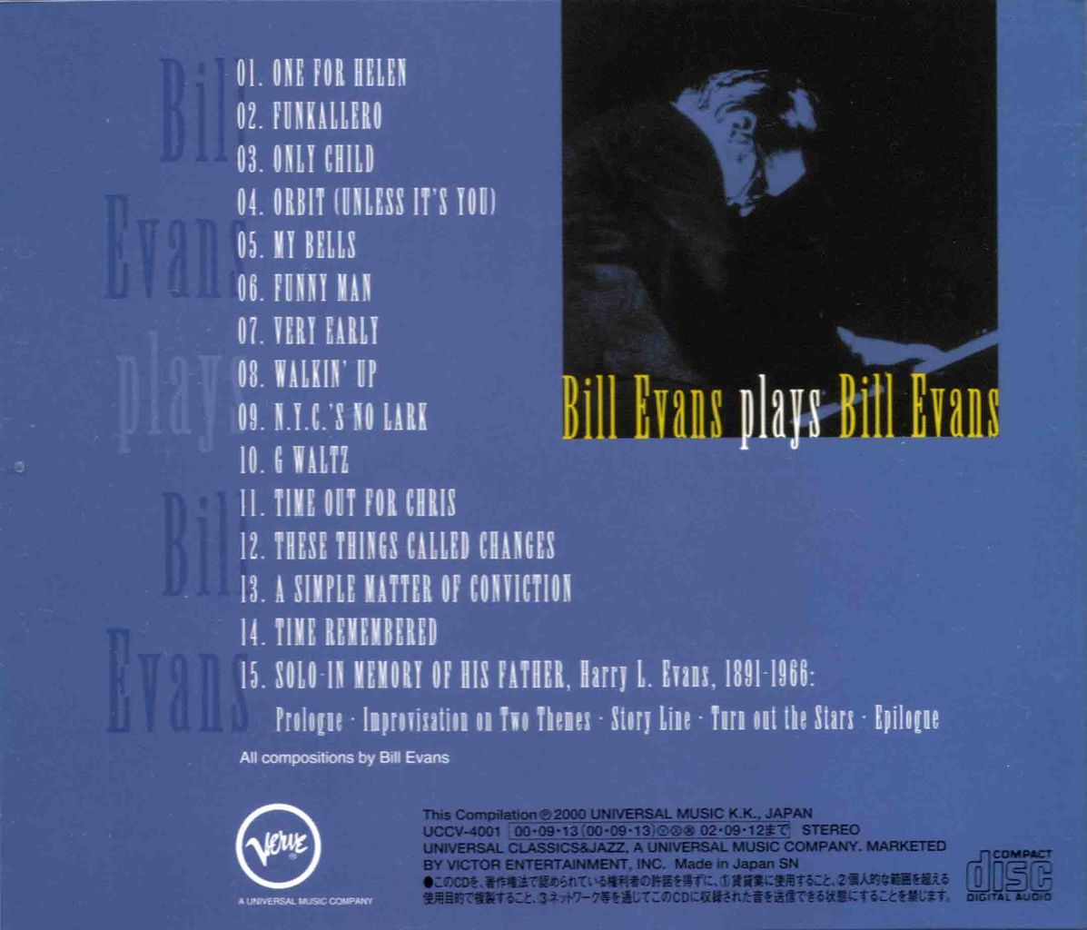 BILL EVANS PLAYS BILL EVANS-2