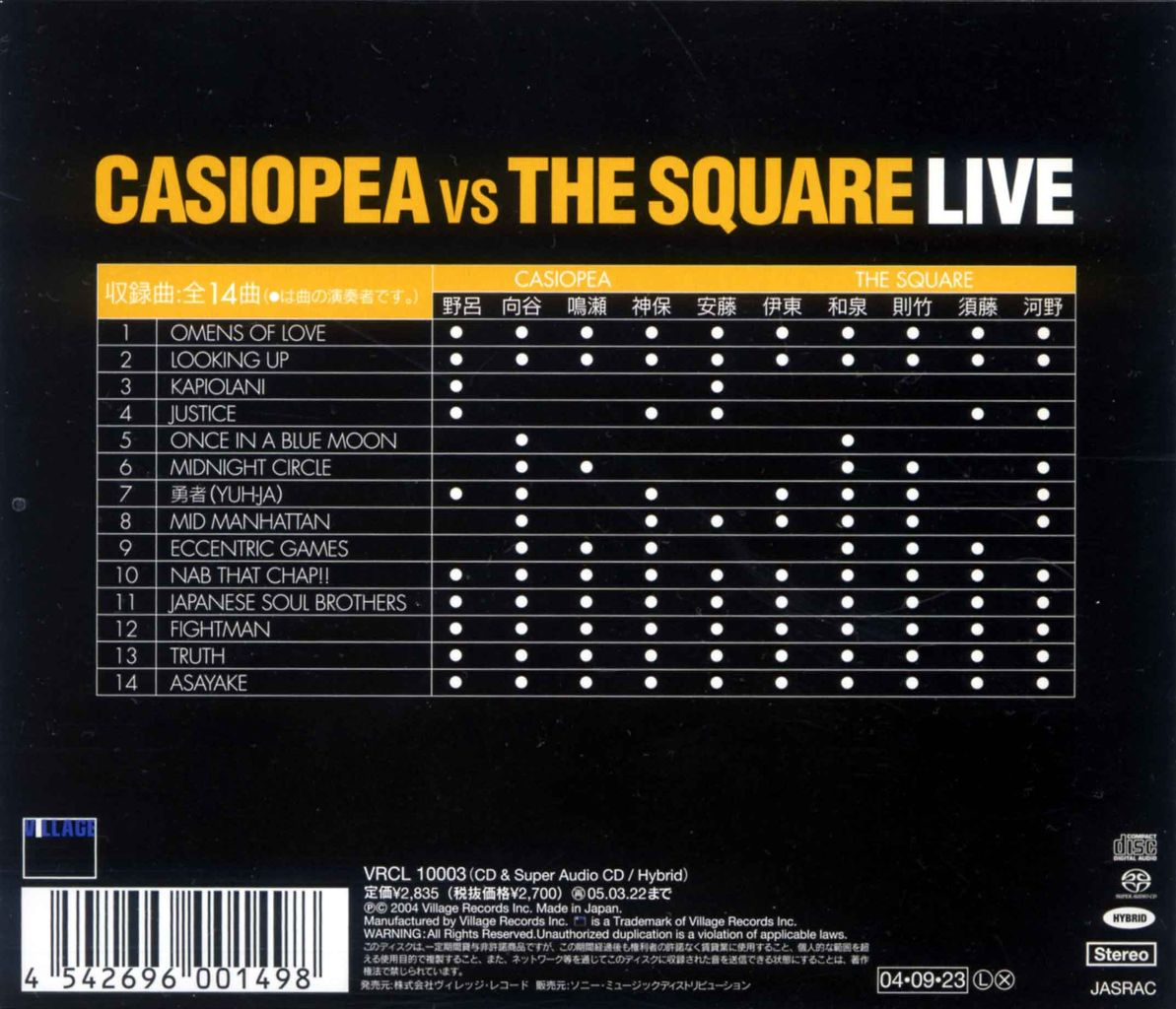 CASIOPEA VS THE SQUARE LIVE-2