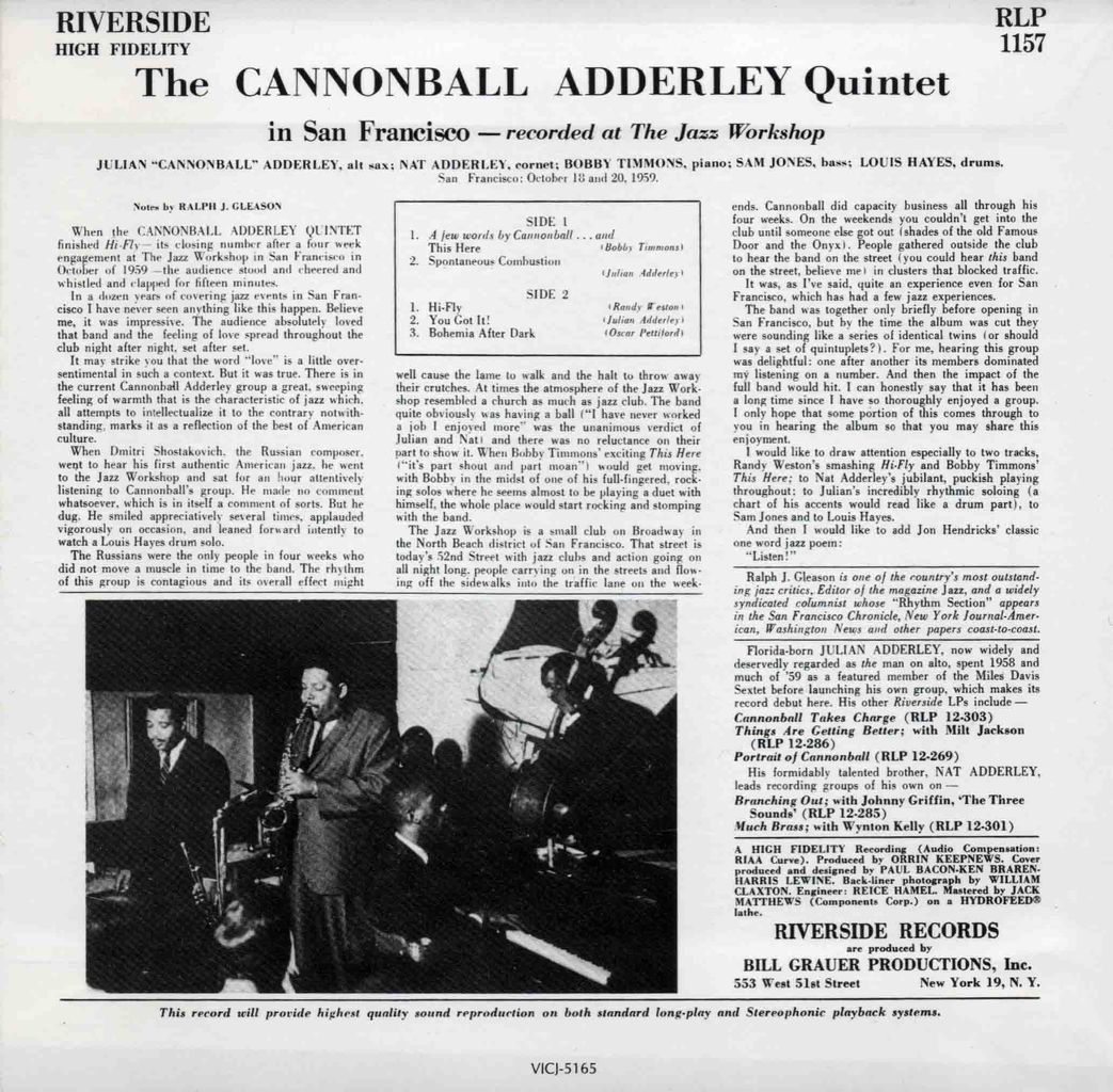 THE CANNONBALL ADDERLEY QUINTET IN SAN FRANCISCO-2