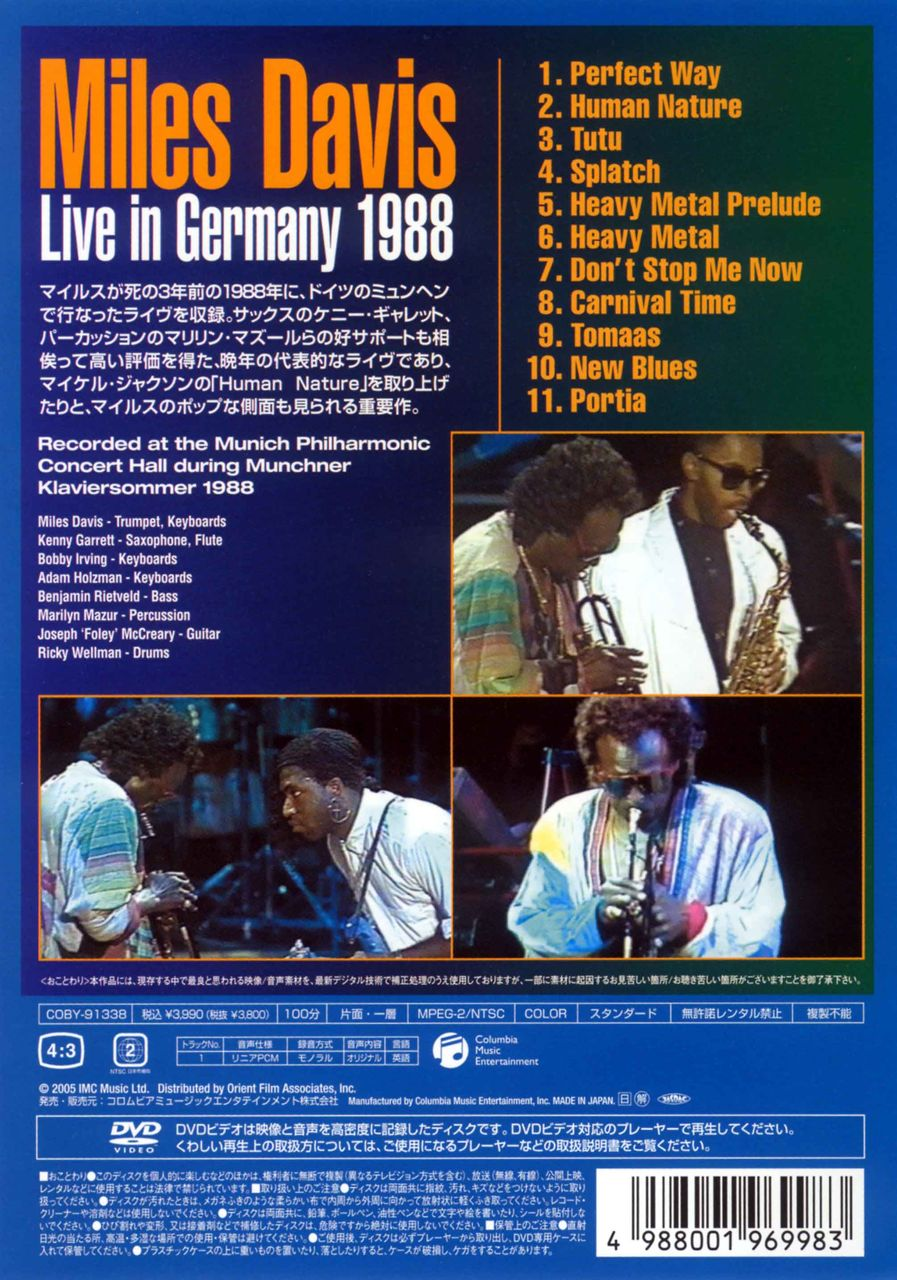 LIVE IN GERMANY 1988-2
