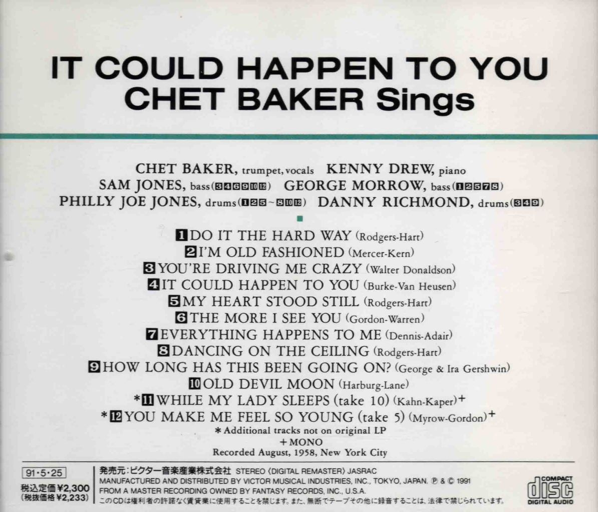 IT COULD HAPPEN TO YOU:CHET BAKER SINGS-2