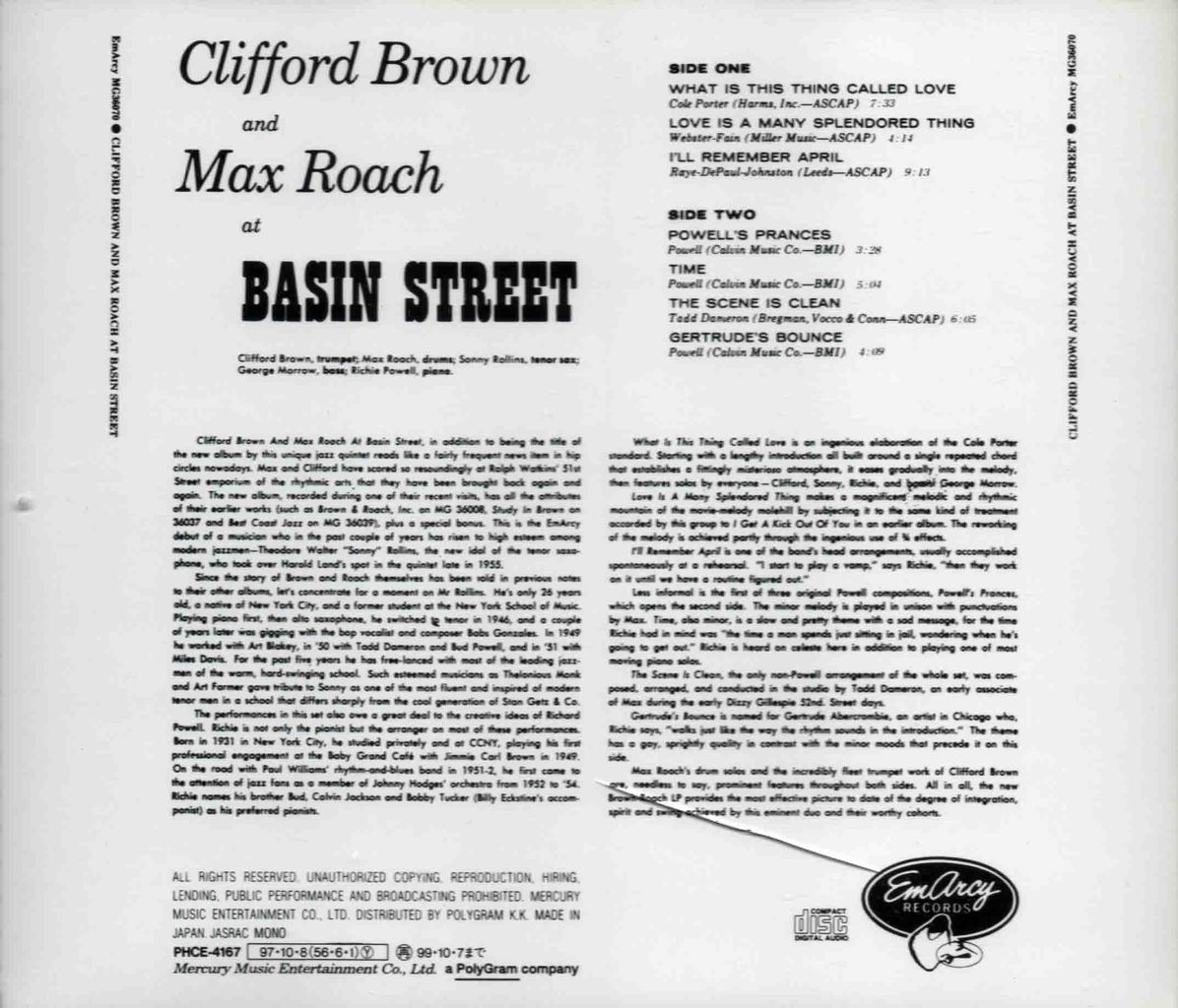 CLIFFORD BROWN AND MAX ROACH AT BASIN STREET-2