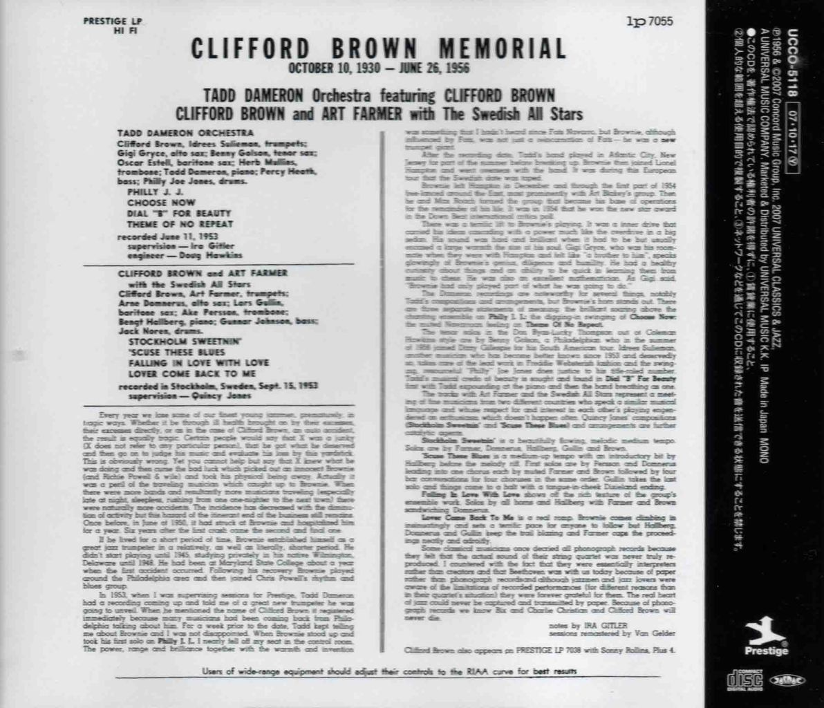 CLIFFORD BROWN MEMORIAL-2