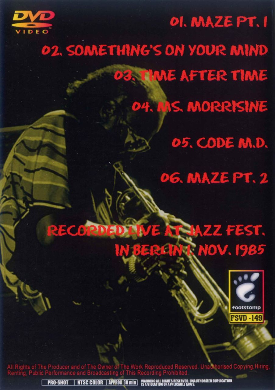 JAZZ FEST. BERLIN 1 NOV. 1985-2
