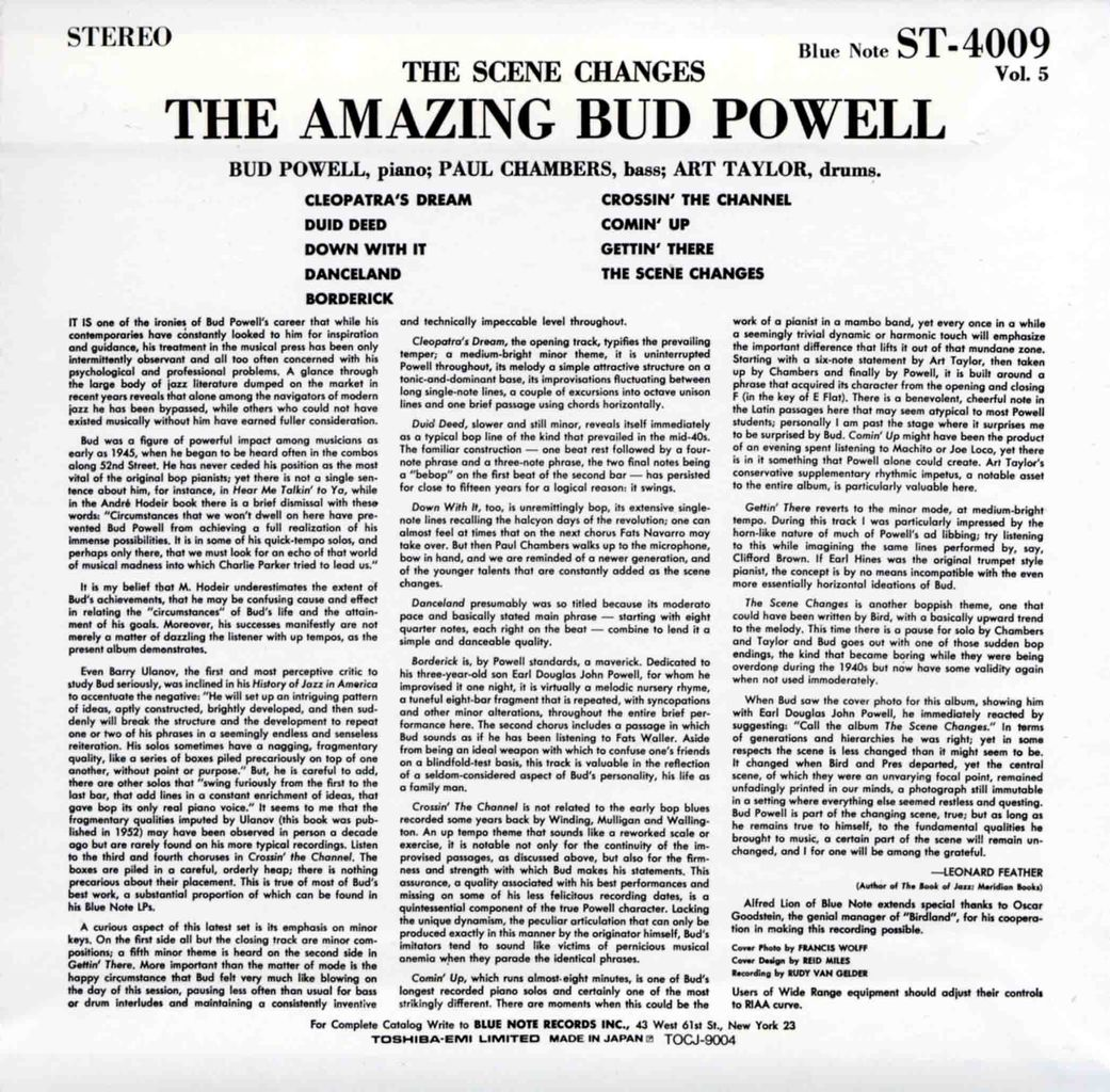 THE SCENE CHANGES - THE AMAZING BUD POWELL VOL.5-2