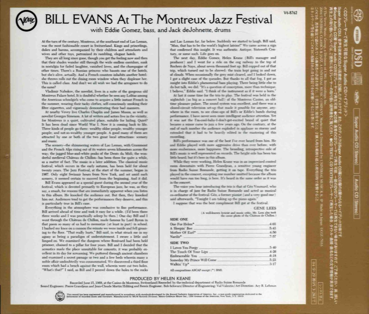 BILL EVANS AT THE MONTREUX JAZZ FESTIVAL-2