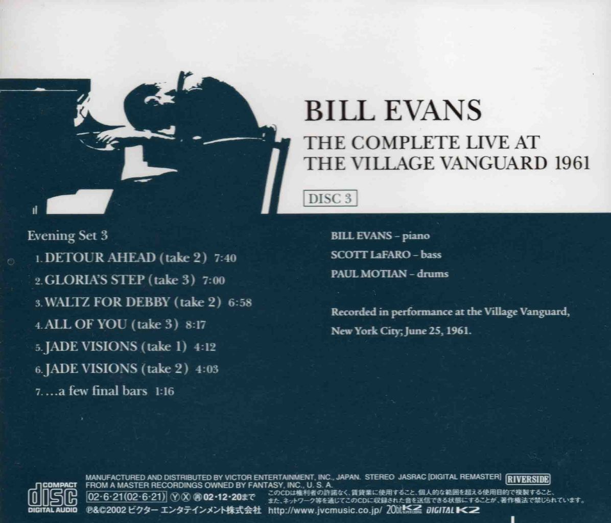 THE COMPLETE LIVE AT THE VILLAGE VANGUARD 1961-8
