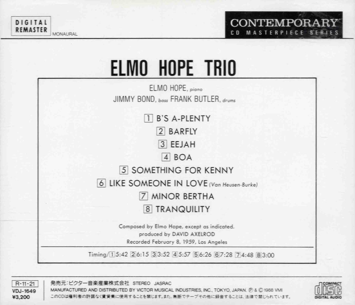 ELMO HOPE TRIO-2