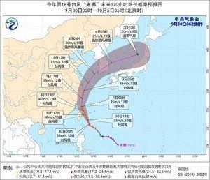 2019年9月30日台風
