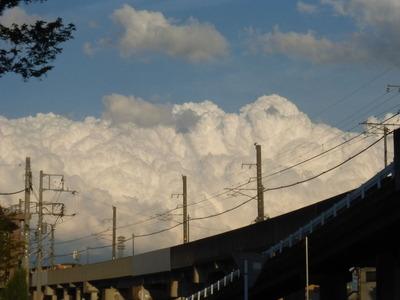 春の嵐 積乱雲