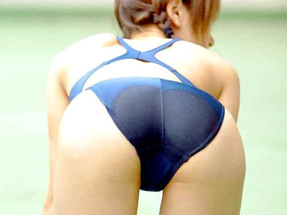 【競泳水着】エロ過ぎるダブルフェチ画像【尻】